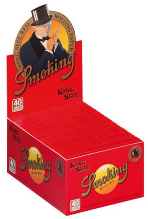 Bibułka Smoking Red King Size BOX 50szt.